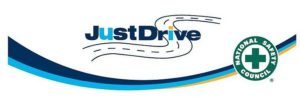 Just Drive Logo for Driver Awareness month